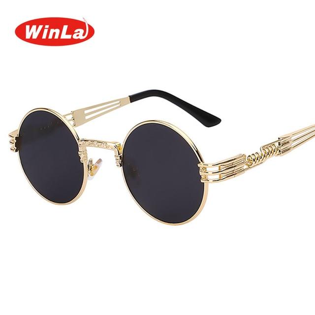 winla Metal Glasses Round Frame 97 Wl1203 Fashion Design Lens Steampunk Us6 Retro 30Off Luxury Women Sun Sunglasses Gafas In Classic Shades lKFJTc1