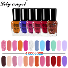 Lily angel High Qulity 10ml 48Colors Paint Nail Polish for Art Peelable Easy Quick Drying Water Based Gel