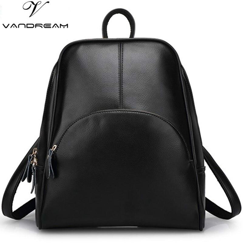 2017 New Famous Brand Backpacks Women Shoulder Daypack Solid Designer Vintage Girls School Bags for Lady
