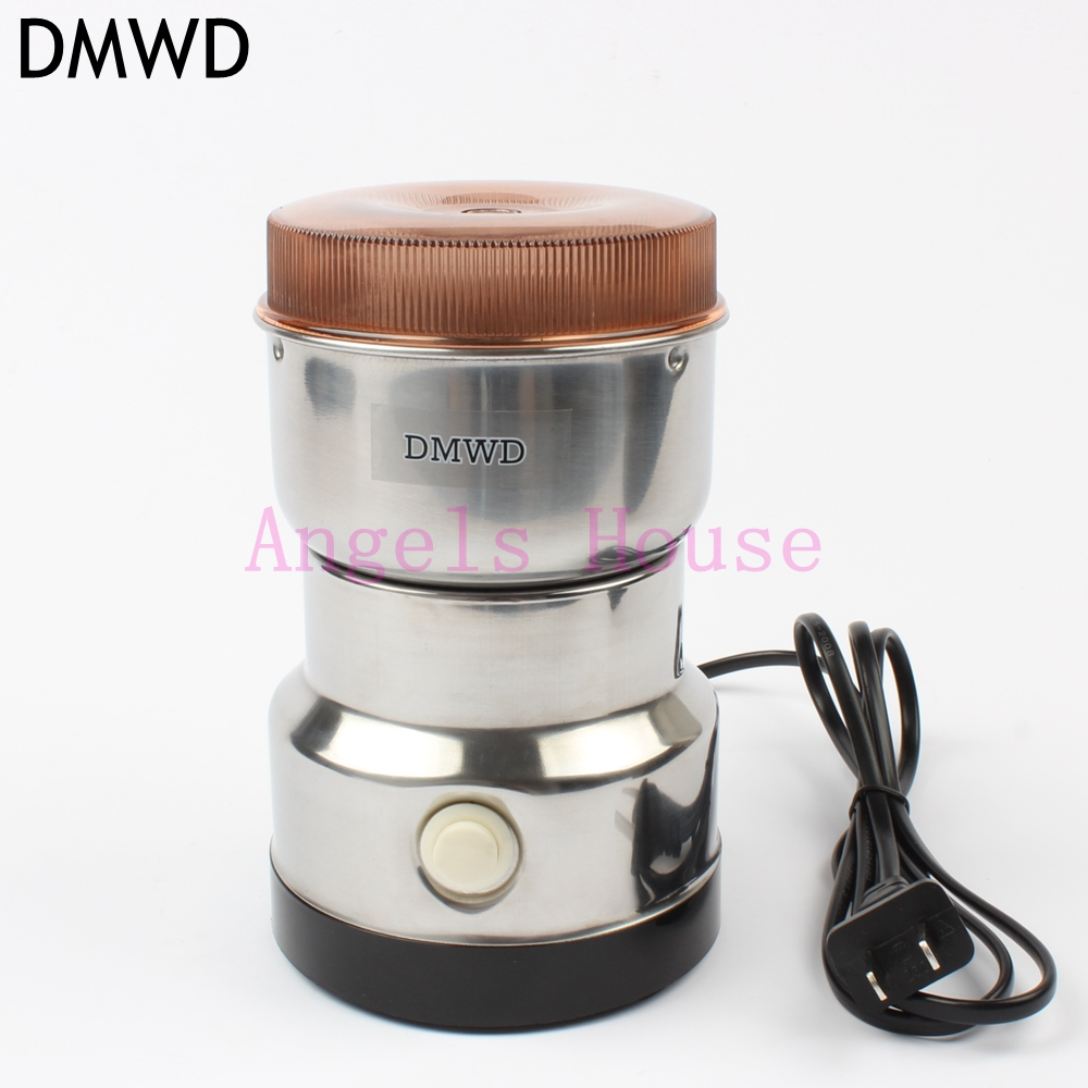 DMWD 160W Household Electric Mini grinder for grain/Chinese medicine/coffee bean Stainless steel blade 400ml powder maker 220v 600w 1 2l portable multi cooker mini electric hot pot stainless steel inner electric cooker with steam lattice for students