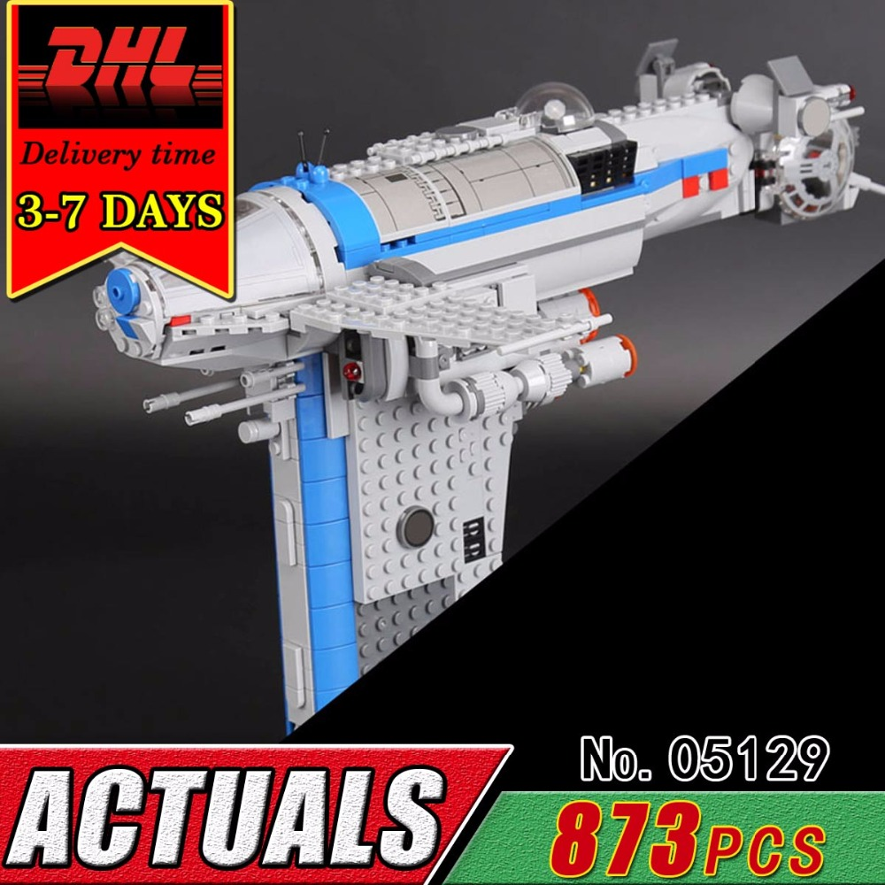 DHL LEPIN 05129 Star Plan Series The Resistance Bomber Military War Compatible Educational Building Block Bricks Toy Child 75188 конструктор lepin star plan бомбардировщик сопротивления 873 дет 05129