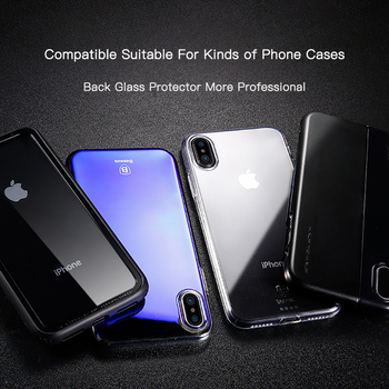 Baseus For iPhone Xs Max Glass Ultra Thin Back Glass Film For iPhone Xs Max Xs XR 2018 Protective Glass Tempered Scratch Proof 3