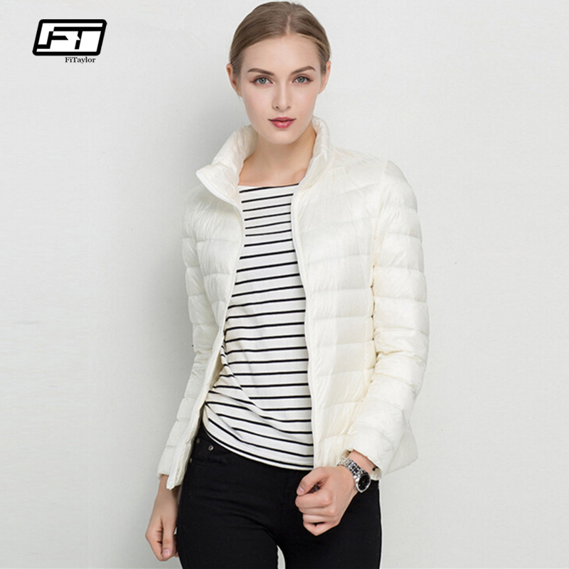 Fitaylor 90% Ultra Light White Duck Down Jacket Spring Winter Women Short Jackets Puffer Jacket Portable Windproof Down Coat