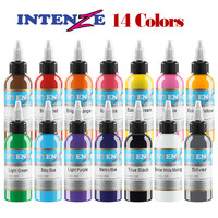 14 color body art 30 ml professional tattoo 1oz tattoo paint set beauty makeup permanent cosmetics