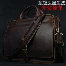 جلد طبيعي فاخر الرجال حقيبة حقيبة لابتوب حقيبة جلدية محفظة الرجال حقيبة أعمال حقيبة الذكور وثيقة حقيبة مكتب