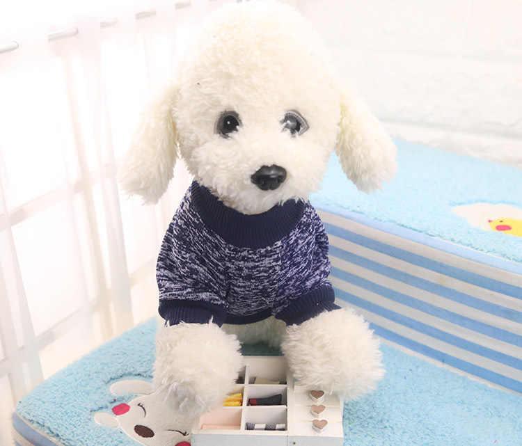 2019 클래식 겨울 개 스웨터 코트 코튼 소프트 플리스 자켓 애완 동물 캔디 컬러 러블리 작은 강아지 고양이 치와와 애완 동물 제품