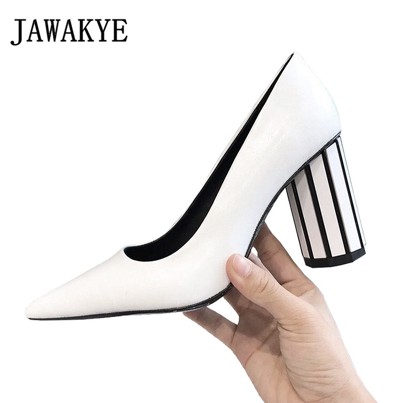 2018 newest Spring Chic pointed toe wedding Shoes Women silver white crystal high Heels slip on