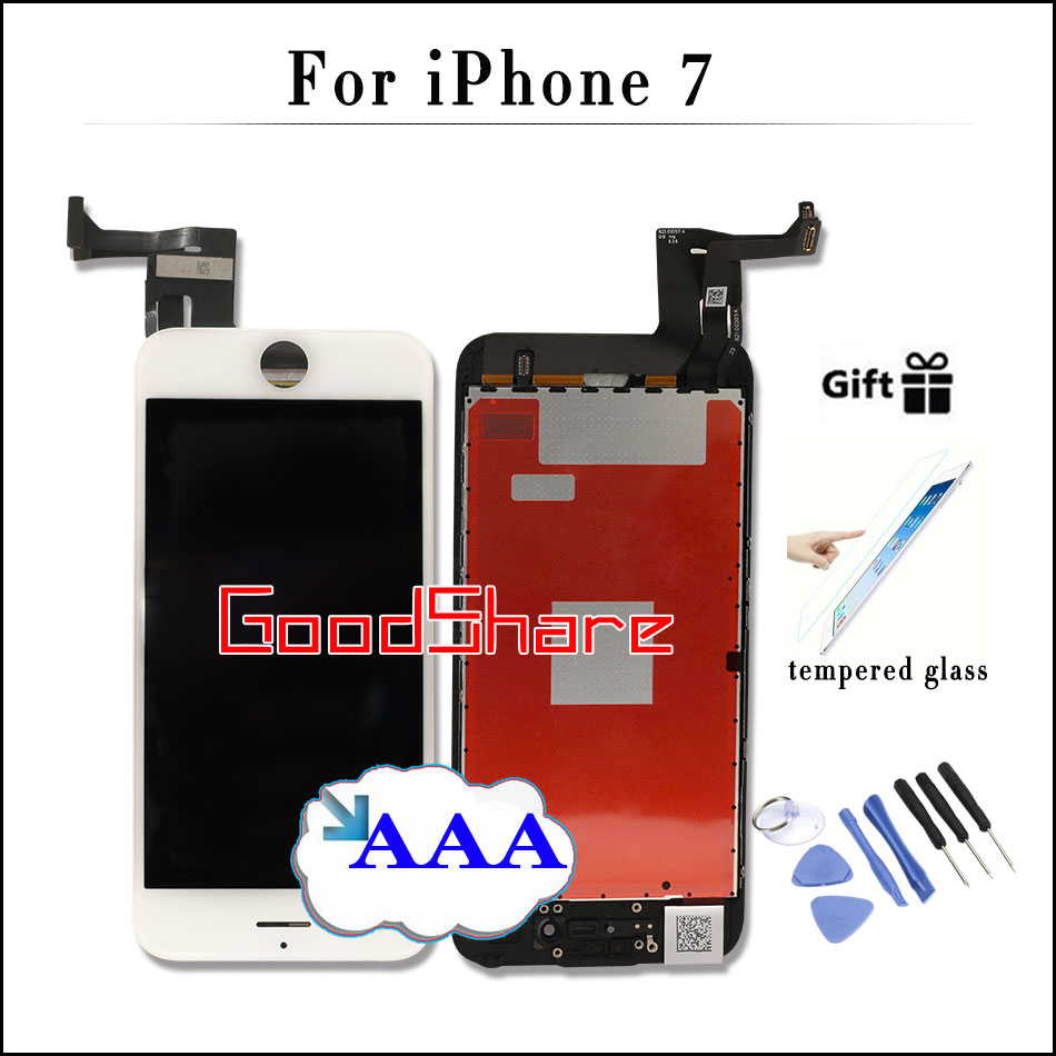 100% Check and Test AAA For iPhone 7 LCD Touch Screen Display Digitizer Assembly Replacement Black/White No Dead Pixel+2 Gifts пюре спеленок пюре груша с 4 мес 80 г