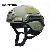 TAK YIYING Mich 2000 Helmet Tactical Accessories Army Combat Head Protector Equipment Airsoft Wargame Paintball