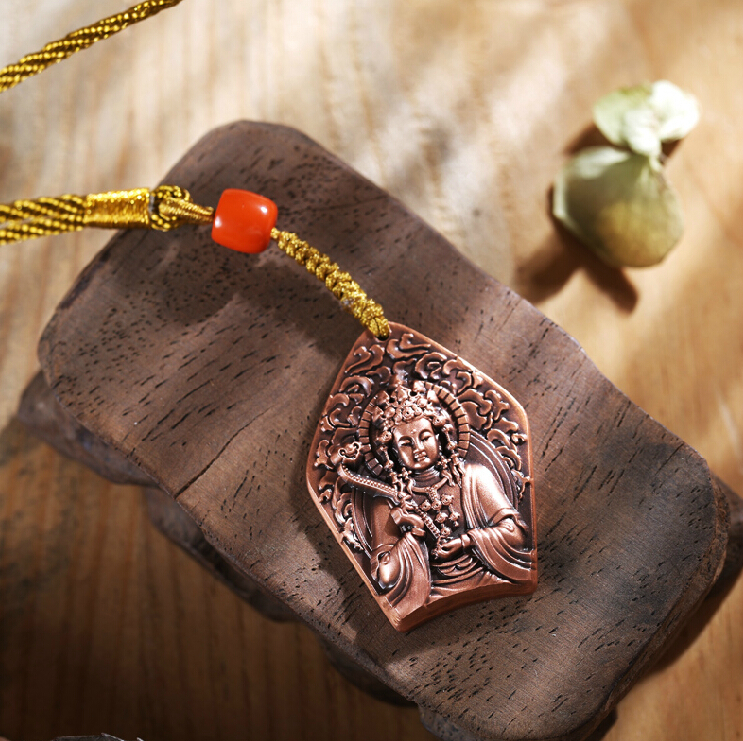 Pendentif de Bouddha en cuivre et en relief