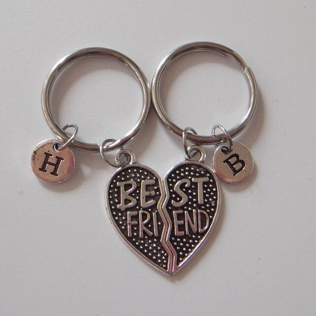Best Friend Keychain Sets Bff Custom Friends Gifts
