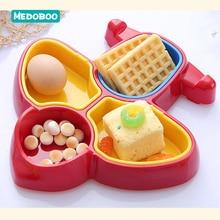 Medoboo Cartoon Baby Food Plate Foods Supplement Storage BPA Free Children Food Box Container Kids Training Eating Tableware 20 стоимость