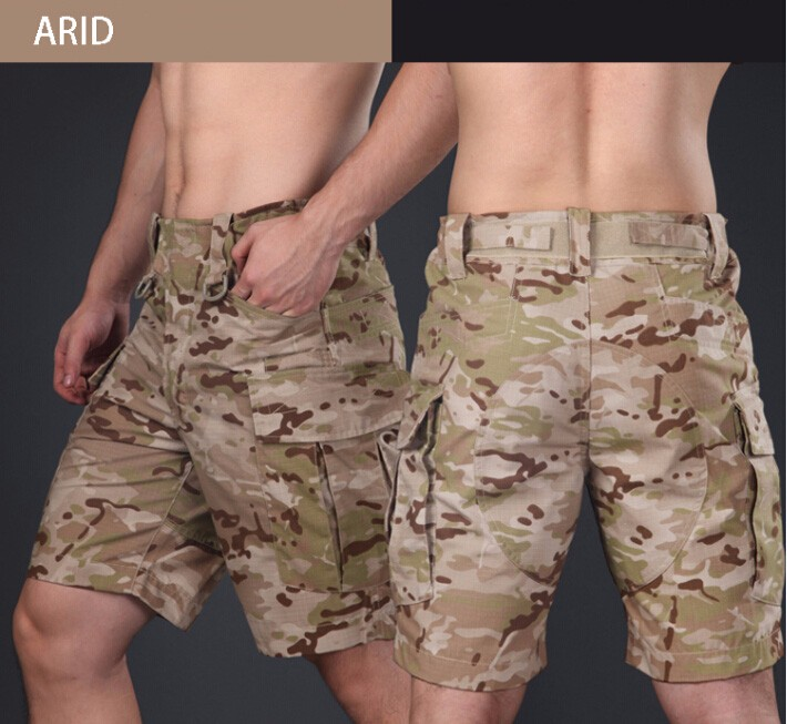 Military Tactical Shorts Camouflage Cargo Short Trousers Hunting Clothes Survival Gear