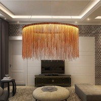 Modern chain chandelier lighting Design Luxury Chain Tassel Aluminum Chain chandelier lighting vintage Pendant Lamps