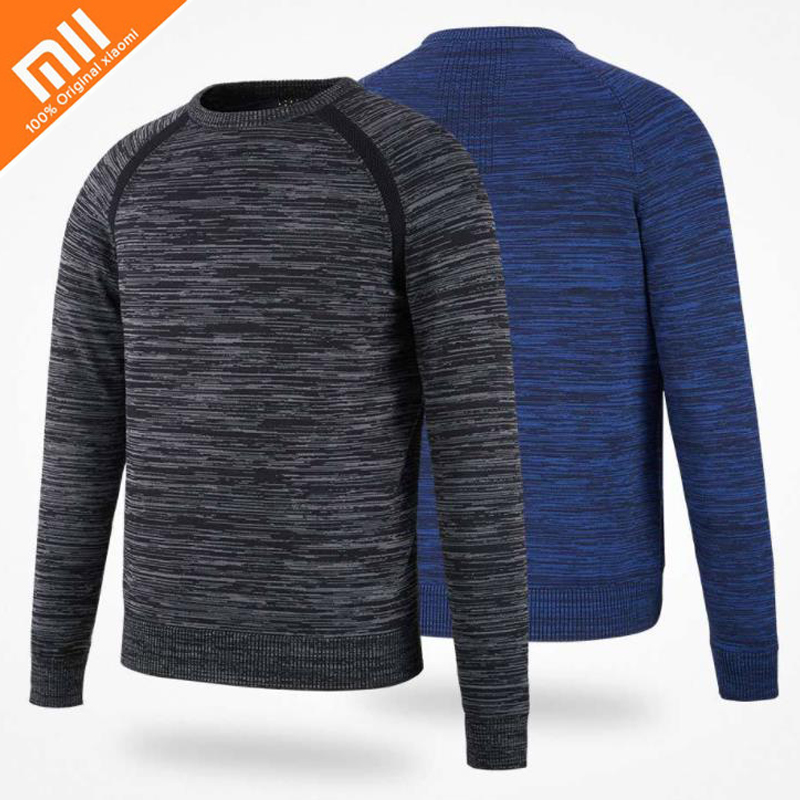 все цены на Original xiaomi mijia MITOWN flying woven round neck sweater lightweight warm fast moisture-absorbing knit sweater HOT