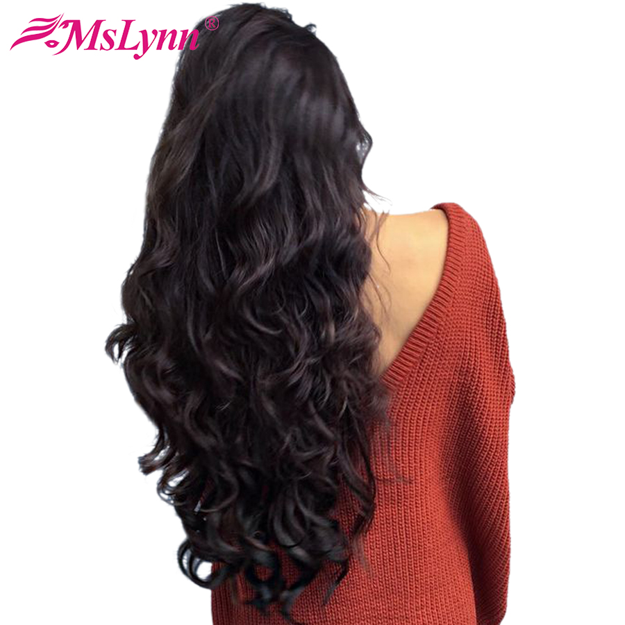 360 Lace Frontal Wig Pre Plucked With Baby Hair Lace Front Human Hair Wigs For Women