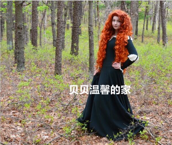 Adult Costume Brave Merida Cosplay Dress