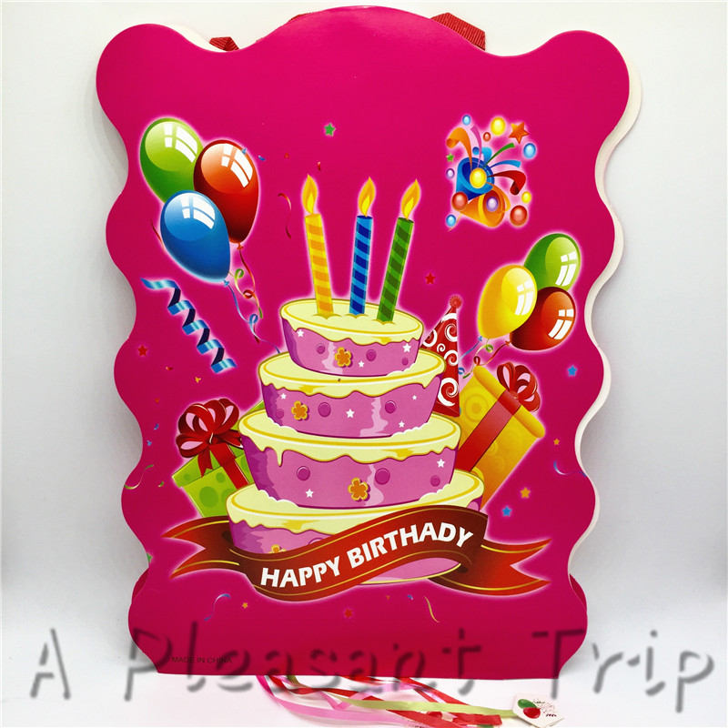 Superb 1Pcs Lot Birthday Pinatar Happy Birthday Theme Printed Paper Personalised Birthday Cards Cominlily Jamesorg