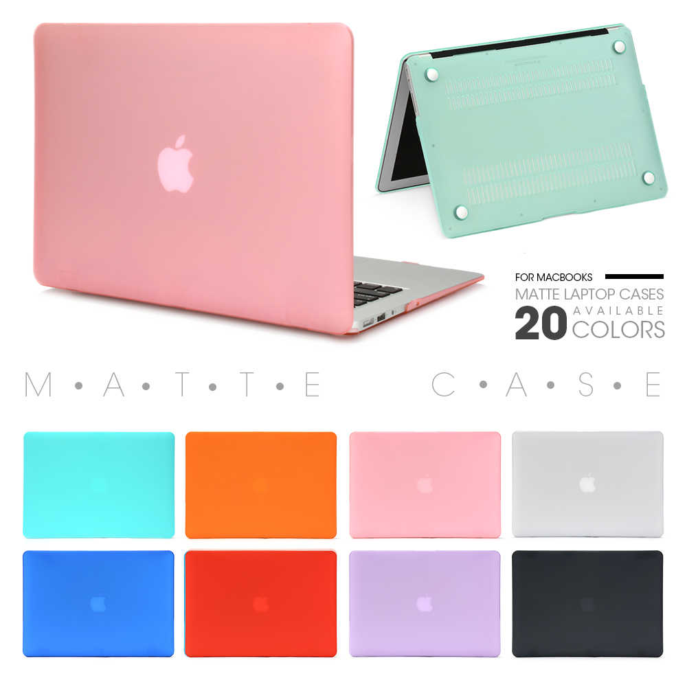 LAPTOP untuk Apple Macbook Mac Buku Udara Pro Retina Baru Touch Bar 11 12 13 15 Inch Matte Hard LAPTOP Menutupi Case 13.3 Tas Shell