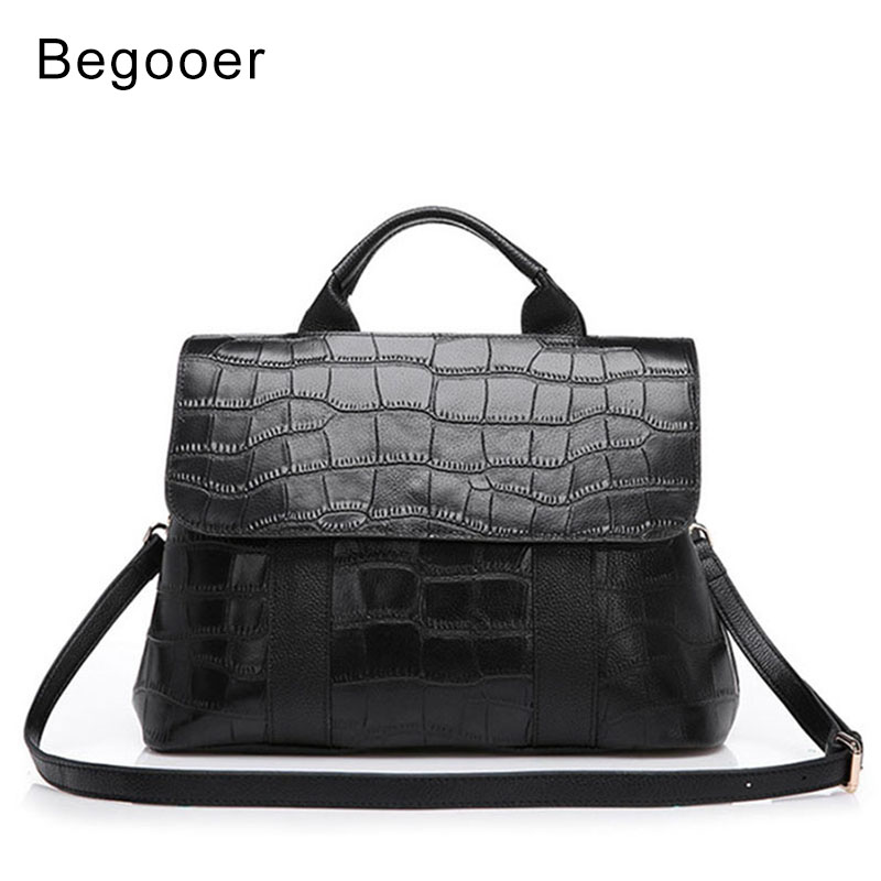 BEGOOER Luxury Handbags Women Bag Tote Genuine Leather Bag Bolsa Feminina Shoulder Bag Brand Women Leather Bag Stone Pattern dusun 2016 new women handbag genuine leather women bag luxury brand high quality bag casual tote women handbags bolsa feminina