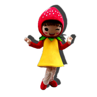 High quality Fruit Strawberry Mascot Costume Cartoon character ADULT SIZE