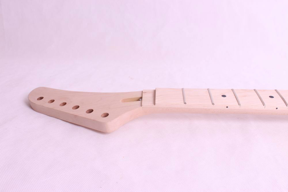 one Bolt on 24 fret   electric guitar neck maple made and maple wood  fingerboard one electric bass guitar neck high quality maple made with ebony fingerboard 21 fret