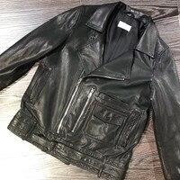 Genuine Sheep Leather Jacket Women Ladies Real Leather Coat Full Sleeve Black Natural Lambskin Real Leather Jacket Female