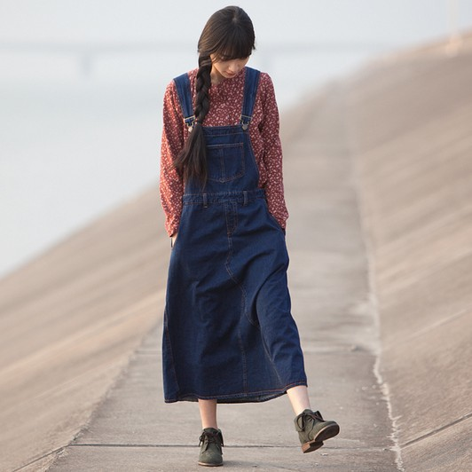 New Fashion Loose A-line Denim Dress Women's Dresses