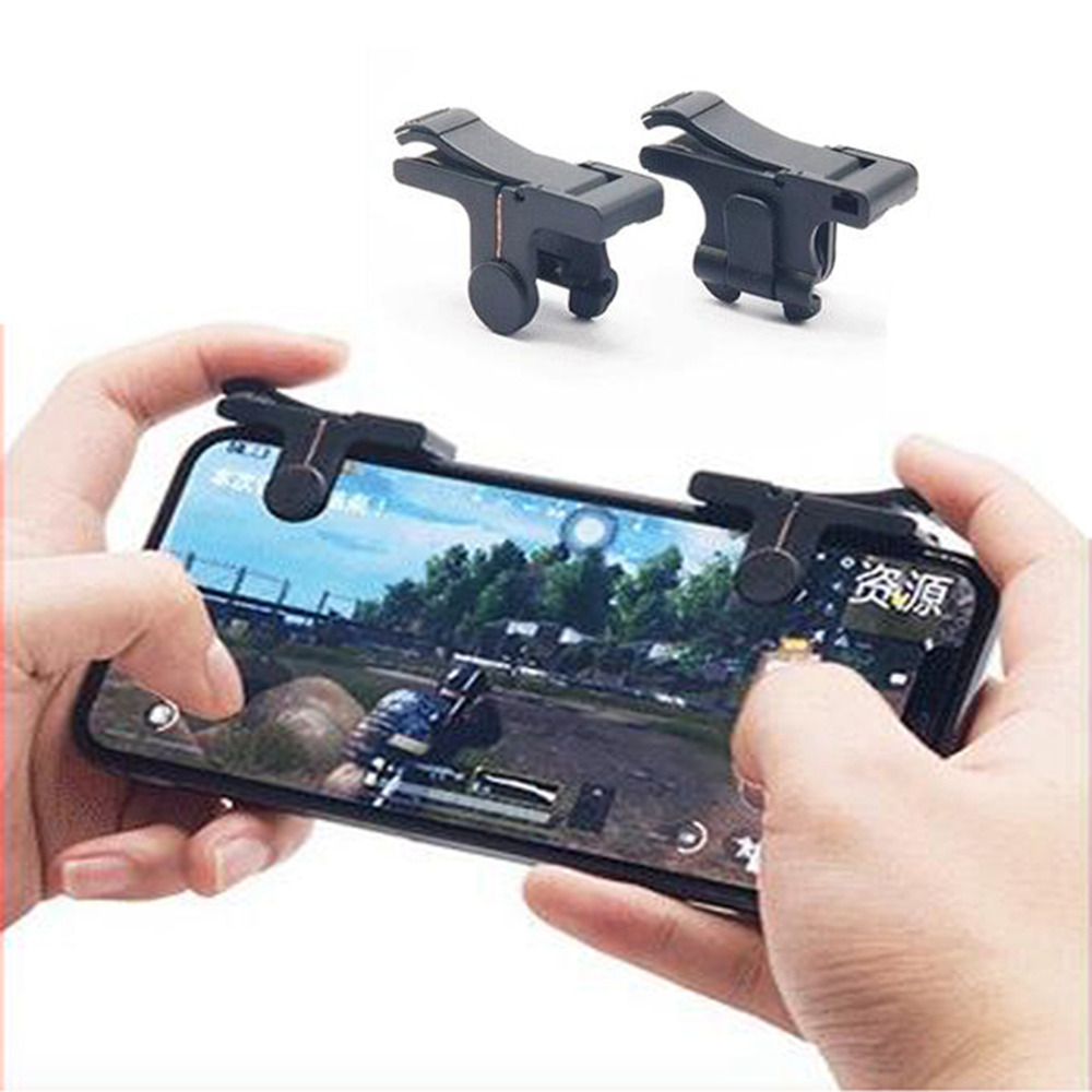 1 pair Mobile Gaming Trigger for Knives Out Rules of Survival Game Fire Button Handle for L1R1 Shooter Controller 4.0 Version