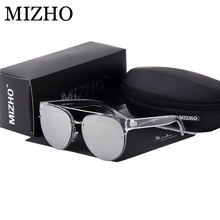 MIZHO Minus Reflection Effects Black Lens Unisex Sunglasses Women Steampunk Designer Small Face Sun Glasses Men Round Mirror