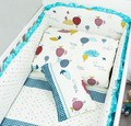 Nordic Style Pattern Cotton Reactive Printing Baby Bumper Non-fluorescent Agent Without Stimulation Baby Bedding Sets