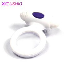 New Silicone Vibrating Penis Cock Ring Sex Toys Penis Ring Delay Ejaculation Sex Toys for Men Sex Products Penis Sleeve Vibrator