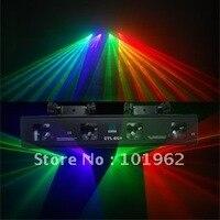 Замечательный эффект 4 объектив 3 цвета 260 МВт RGV диско DJ DMX Звук лазерное шоу системы