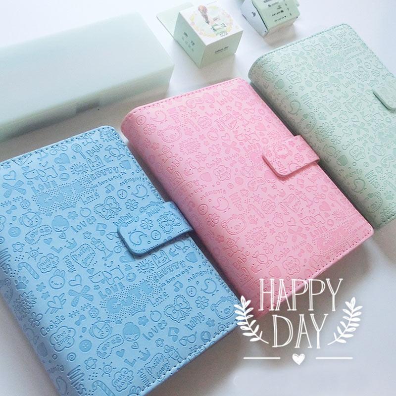 Stonebook Cute Cartoon A5 A6 A7 Spiral Loose-leaf Notebook Candy Item