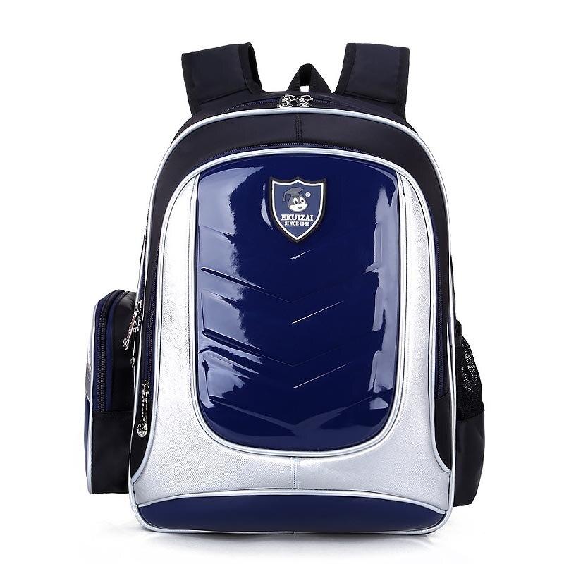 Waterproof School Bags For Boys Leather Kids Backpack Orthopedic Children School bags PU Backpack Child Kids Schoolbags