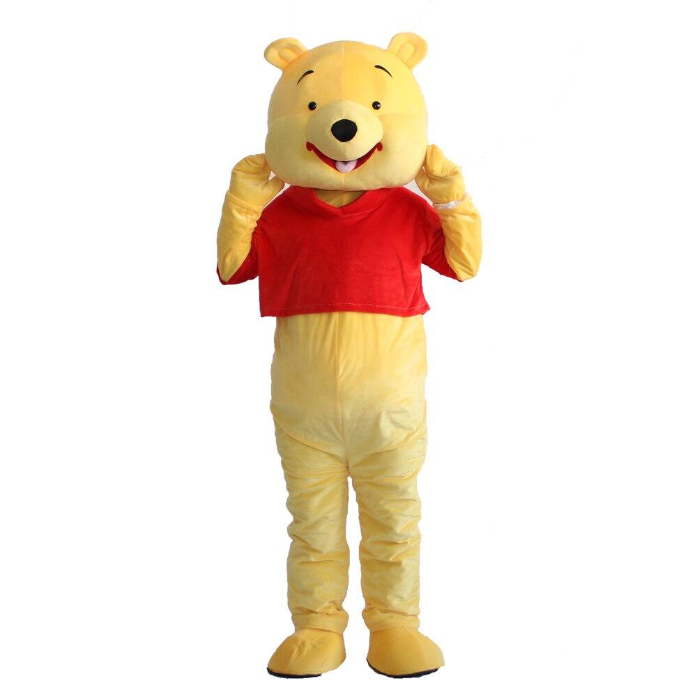 Winnie Ours mascotte costume Cosplay Halloween Fantaisie Parti Robe