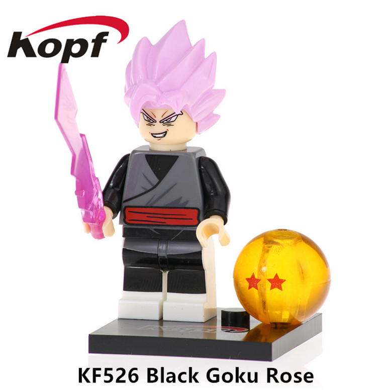 Toys & Hobbies Hearty 50pcs Kf526 Building Blocks Dragon Ball Z Figures Black Goku Rose Dyspo Zamasu Bill Android 16 Bricks Gift For Children Toys Model Building