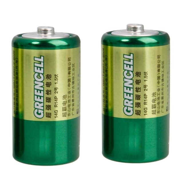 GP 2 шт. размер c 1.5 В углецинковые Батарея зеленый