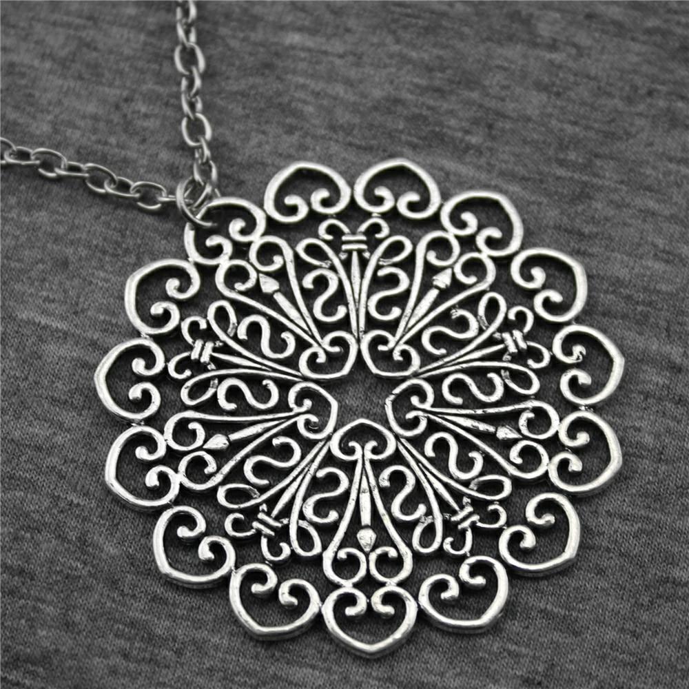 WYSIWYG 53*53mm Mandala Pattern Pendant Necklace, Fs