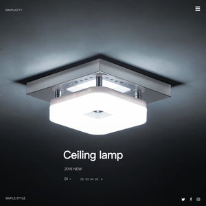 Image 1 - Modern Square Ceiling Lamp 3 Lights Changeable Dimmable Stainless Steel LED Ceiling Light for Entrance Small Room Warm White