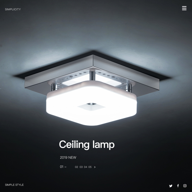 Modern Square Ceiling Lamp 3 Lights Changeable Dimmable Stainless Steel LED Ceiling Light for Entrance Small Room Warm White