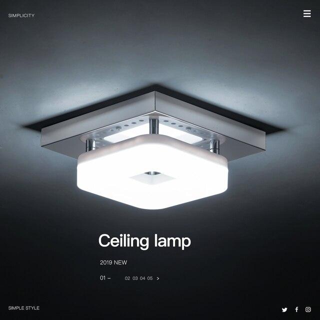 Plafonnier carré en acier inoxydable LED, design moderne, luminaire de plafond réglable, lumière blanche chaude, idéal pour une petite entrée
