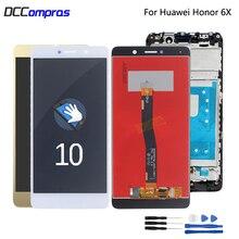 Original For Huawei Honor 6X LCD Display BLN-L24 BLN-AL10 BLN-L21 BLN-L22 Touch screen Digitizer With Frame For GR5 2017 Display цены онлайн