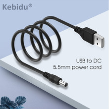 Kebidu 1 PCS 1M USB พอร์ต 5.5x2.1 มม.5 V DC Barrel JACK Power CABLE CONNECTOR สีดำคุณภาพสูง