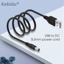 Kebidu 1 pçs 1m porta usb para 5.5x2.1mm 5 v dc tambor jack cabo de alimentação conector preto alta qualidade