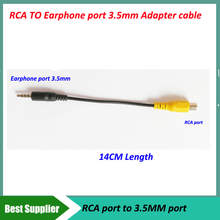 High quality RCA to 3.5mm Headphone jack Cable RCA Car Rear View Camera for GPS Adapter to Headphone