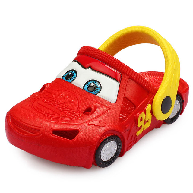 9a3da4206032a1 Boys Colgs Car Character Light-up Sandals Beach Shoes For Kids Rubber Clogs  Cross To 2-6 Yrs