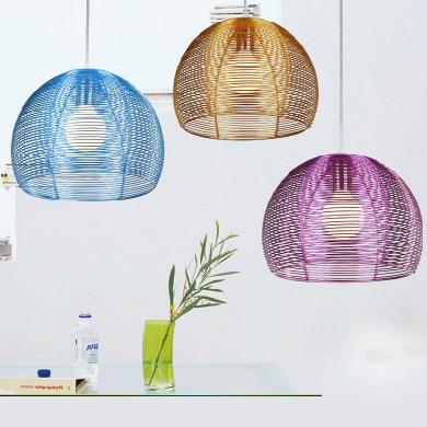 LED creative personality simple modern aluminium pendant lamps cover room restaurant bar study Taipei Europe lamp pendant FG280(China)