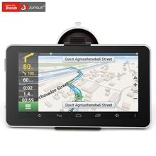 Junsun 7 дюймов автомобильный gps навигации android 16 г MT8127 Quad одноядерный автомобильный навигатор 2015 европа или навител карта грузовик gps спутниковой навигации