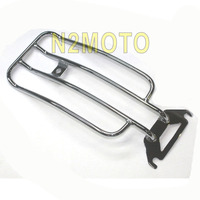 Chrome Steel Motorcycles Luggage Rack Passenger Seat for Haley Road Electra Glide FLHTC FLTR 1998 2008